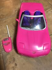 BARBIE PINK CORVETTE REMOTE CONTROL CAR CONVERTIBLE DOLL HOUSE MATTEL