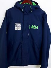 FB900 Men Helly Hansen Blue Waterproof Jacket Size M