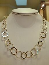 Italian Milor 14k yellow gold circle link bubble necklace chain 11.6g 17 7/8""