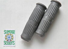 HANDLE BAR GRIPS. ONE PAIR IN GREY. SIL PRODUCT. FITS LAMBRETTA SCOOTERS
