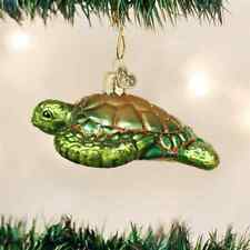 *Green Sea Turtle* Tortoise [12167] Old World Christmas Glass Ornament - NEW
