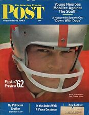 Saturday Evening Post Magazine September 8, 1962 College Football Preview