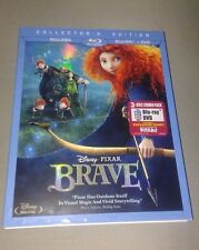 Disney's BRAVE 3 Disc Collector's Edition BLU RAY/DVD NEW Authentic w Slipcase