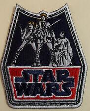 "STAR WARS A NEW HOPE LUKE SKYWALKER PRINCESS LEIA & HAN SOLO PATCH 3""X3 5/8"" NEW"