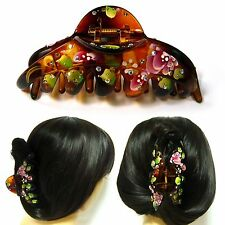Big Large Brown Plastic Hair Claw Jaw Clip Pin Clamp Oriental Fashion Accessory