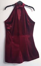BNWT Beautiful Burgundy Velveteen Short Jump Suit All In One Playsuit  size 20
