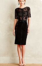 NWT Beguile Byron Lars Black Carissima Sheath Dress 0 Anthropologie LBD Lace