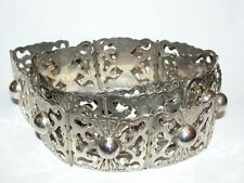 Mexican Handmade Stamped Sterling Silver Belt