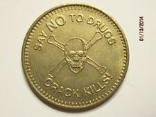 say no to drugs NA Narcotics Anonymous AA Alcohoics Anonymous chip medal token