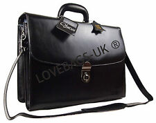 High Quality Real Leather Business Briefcase Doctor Satchel Laptop Work Case Bag