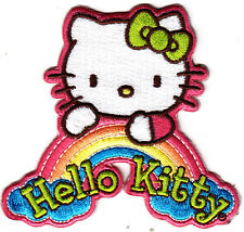HELLO KITTY RAINBOW - Cartoon Character/Iron On Embroidered Applique Patch