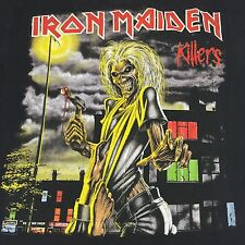 Iron Maiden Black Small T-Shirt Guitar Heavy Metal Rock Band Killers Eddie Beast