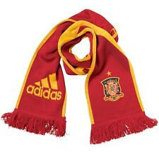 RRP £15 Mens adidas FEF Spain Scarf Red football team Campeones De Europa 2008
