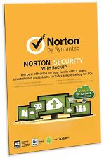 Norton Security With Backup 2.0 25GB: 1 User, 10 Devices [2015] (PC/Mac/iOS/And