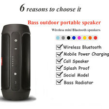 Mini Wireless Bluetooth Speaker Power Bank Outdoor Portable Stereo Subwoofer