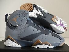 NIKE AIR JORDAN 7 RETRO (GG) BLUE DUSK-GOLD SZ 6Y -WOMENS SZ 7.5 [442960-407]