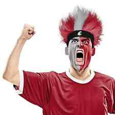Washington State Cougars Fuzz Head Wig NCAA College Sports Costume Accessory