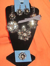 SIMPLY VERA WANG NWT $88 women's necklace ring and earrings set bold large party