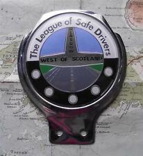 Old Genuine Vintage Car Mascot Badge : League Safe Drivers West Scotland Glasgow