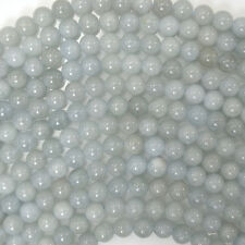 "6mm blue aquamarine round beads 15.5"" strand"