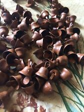 """(36) SMALL Primitive Rusty Tin LIBERTY BELLS 10mm 3/8 in 3/8"""" Christmas Crafts"""
