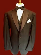 NEXT 40 REG TAILORED FIT MODERN STYLE TUXEDO DINNER SUIT,WOOL BLEND W32 L32