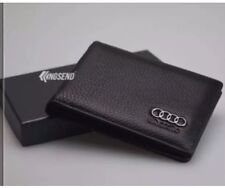 Audi Credit Card Holder Wallet in Black Genuine Leather !