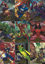 "2008 Marvel Masterpieces Series 2 Complete 9 Card ""AVENGERS"" Insert Set...A1-A9"