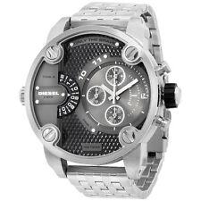 Diesel Dual Time Grey Dial Stainless Steel Men's Watch DZ7259