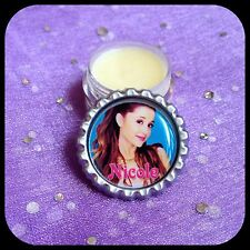 Organic Lip Balm in PERSONALIZED NAME Bottle Cap Jar. ARIANA GRANDE ChapStick