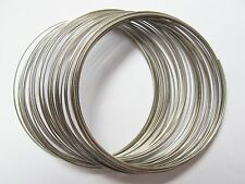50 coils 5.5cm 55mm silver tone steel memory wire bracelets findings beads loops