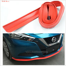 2.5M RED rubber Car Front Bumper Spoiler Lip Kit Splitter Protector Trim Body