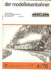 DDR Zeitschrift Modelleisenbahn Der Modelleisenbahner Heft 4 April 1976
