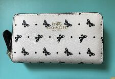 COACH Butterfly PVC Small Double Zip Coin Case/Card Wallet 59782 NEW