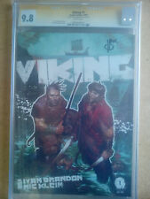 CGC/SS 9.8 IMAGE COMICS VIKING #1 SIGNED BY IVAN BRANDON WHITE PAGES 2009