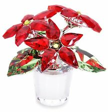 SWAROVSKI #1139997 LARGE POINSETTIA BNIB FLOWER RED SIAM CHRISTMAS PLANTS F/SH