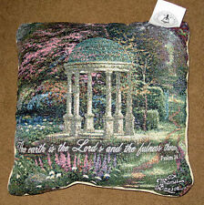 Garden of Prayer Tapestry Square Pillow w/Verse ~ Artist, Thomas Kinkade