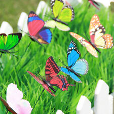 3pcs Butterfly Stakes Art Outdoor Garden Yard Decor Free shipping The grass 9cm