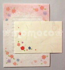 Japanese Letter Set: Pink Cherry Blossoms with Silver Accents ~ Sakura Hanami
