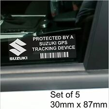 5 x Suzuki GPS Tracking Device Security Stickers-Jimny,Alto,Car Alarm Tracker