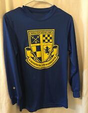 Holloway World Cup Soccer Camp Long Sleeve Athletic Shirt Large Youth Boys Blue