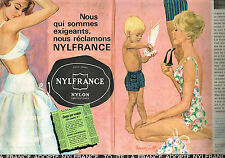 PUBLICITE ADVERTISING 025  1961   NYLFRANCE lingerie (2p) sur EUROPE 1 & RTL rad