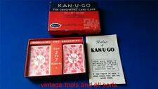 VINTAGE CARD GAME, KAN-U-GO-ALONE CROSSWORDS PATIENCE