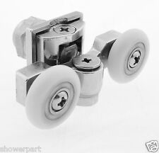 2 x Double Top Zinc Alloy Shower Door Rollers/Runners 20mm wheels diameter  L057
