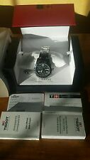 TISSOT BLACK  CHRONOGRAPH WATCH G10  VERY CLASSY TIMEPIECE MINT CONDITION TSPORT
