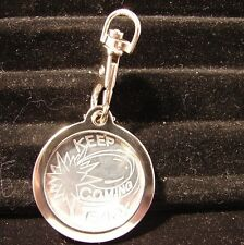 Alcoholics Anonymous AA NA Keychain metal medallion holder chip token Coin Token