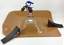 Free-Style Motocross MX Toy Model Bike Ramp Jump Park Play Set 1:18 New Ray