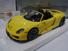 """Minichamps 110062434 # Porsche 918 Spyder Baujahr 2013 in """" gelb """" 1:18 NEU"""