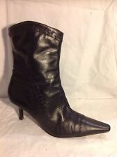 Emotion Black Ankle Leather Boots Size 9