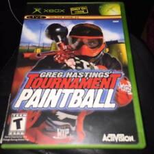 Greg HASTINGS TOURNAMENT PAINTBALL XBOX GAME BUONE CONDIZIONI NTSC versione non del Regno Unito